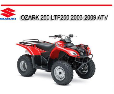 Suzuki Ltf250 by Suzuki Ozark 250 Ltf250 2003 2009 Atv Repair Service