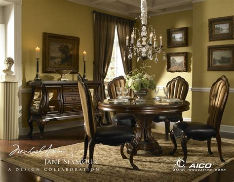 buy palace gate round dining room set by aico from www