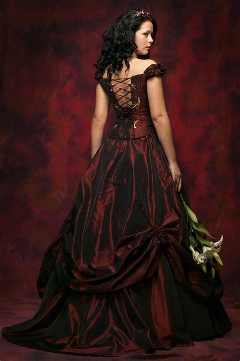 brautkleid schwarz rot brautkleider schwarz