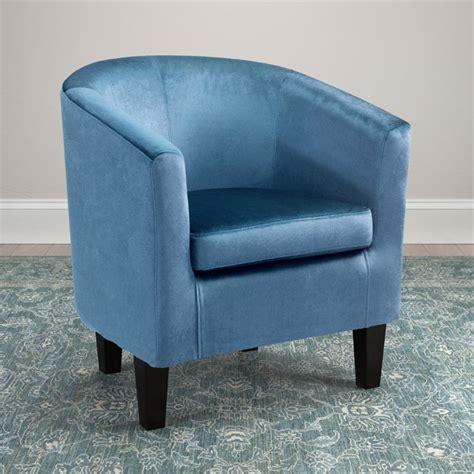 barrel chair in blue velvet lad 728 c