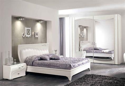 Luxus Schlafzimmer Set Massiv Asche Weiß Spiegeltür