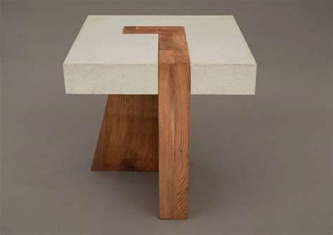 holz beton tisch design idee originell