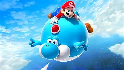 Mario Yoshi Super Galaxy Balloon Air Wallpapers