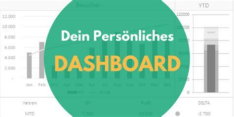 dein persoenliches dashboard als excel vorlage excel