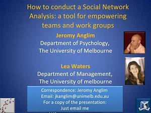 How to conduct a social network analysis: A tool for ...