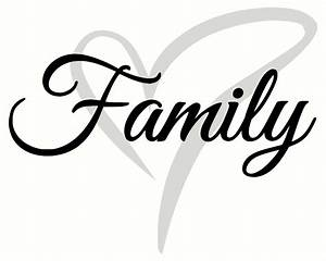 cursive family wall decal lettering with heart 2 color With cursive letter stickers for wall