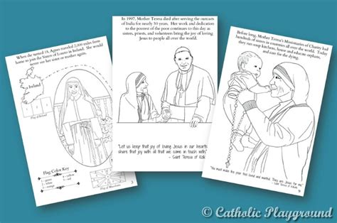 Mother Teresa Quote Coloring