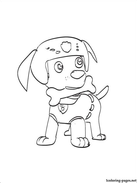 Coloring Zuma by Coloring Page Zuma Paw Patrol Coloring Pages