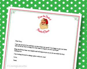 Free Printable Letter From Santa Stationary