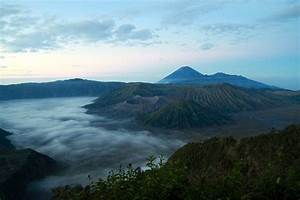 Sunrise at Mount Batok and Mount Bromo Indonesia  Mount