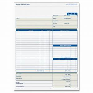 Tops three part carbonless job invoice forms ld products for Carbonless job invoice forms