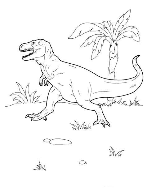 coloring page tyrannosaurus