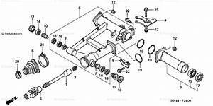 Honda Atv 2002 Oem Parts Diagram For Swingarm