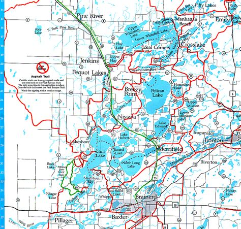 Snowmobile Trail Maps Brainerd Minnesota, Brainerd, Nisswa ...