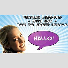 German Lesson 1  How To Greet People Youtube