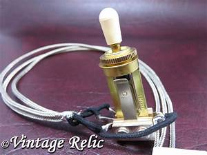 Wired Toggle Switch 3 Way Switchcraft Gold Usa Fits Gibson