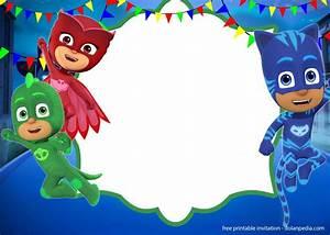 Printable Superhero Party Invitations Free Pj Masks Invitation Templates Editable And