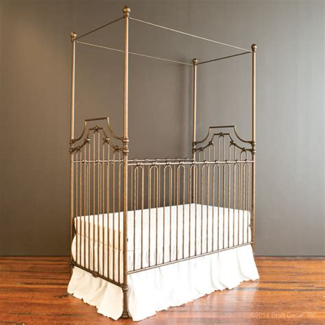 Bratt Decor Crib Satin White by Bratt Decor Parisian 3 In 1 Crib In Gold