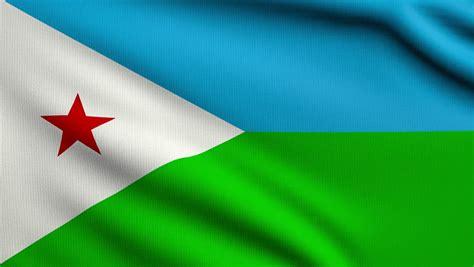 Flag Of Djibouti Beautiful 3d Animation Of Djibouti Flag