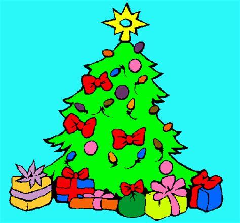 dibujo de 193 rbol de navidad pintado por regalos en dibujos