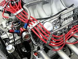 3pc Piece Blue Billet Aluminum Spark Plug Wires Cables Separators Dividers Organizers Holders