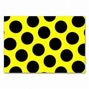 Yellow and Black Polka Dots