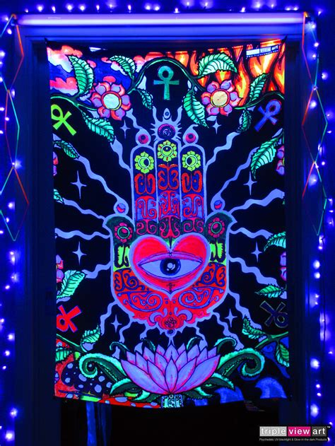 quot the hand quot uv blacklight fluorescent glow psychedelic