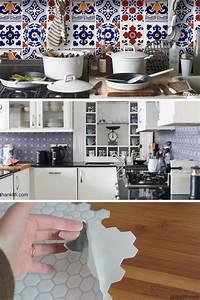 les avis de 6 blogueuses deco sur le carrelage adhesif With carrelage adhesif pour cuisine
