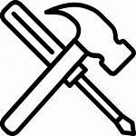 Tools Hammer Screwdriver Construction Improvement Repair Icon