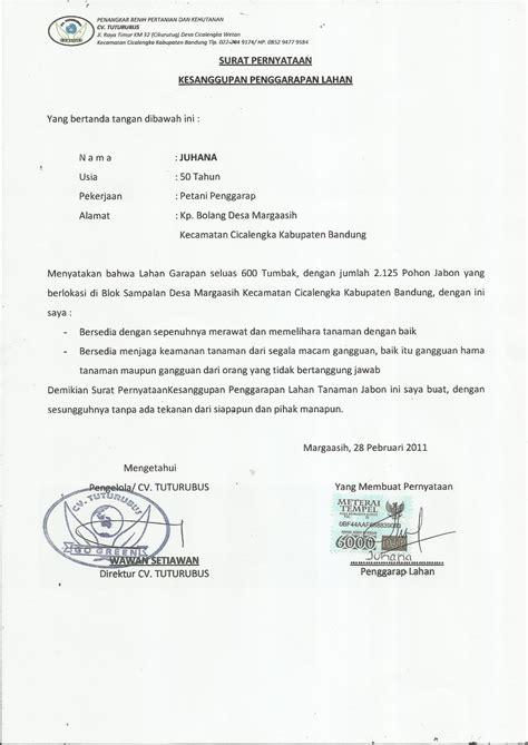 contoh surat pernyataan kesanggupan kesamaptaan contoh surat