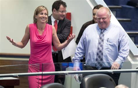 rob ford falsely denies hiking user fees defends police