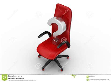 avec une chaise une chaise vide avec le point d 39 interrogation illustration