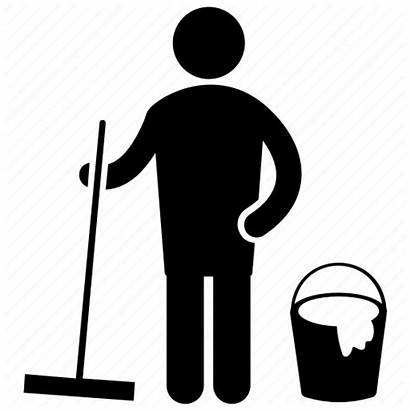 Cleaning Services Icon Chores Janitorial Household Floor