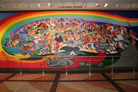 Denver Airport Conspiracy Murals by Humanities Denver Airport Conspiracy Theory