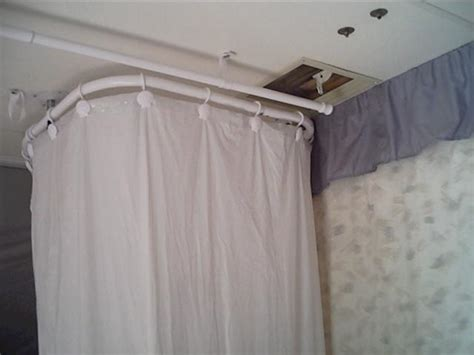 Curtain Track For Rv by Travel Trailer Shower Curtain Putter Home Cer Makeover
