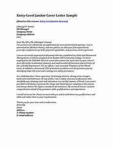 entry level janitor cover letter sample With sample cover letter for janitor position
