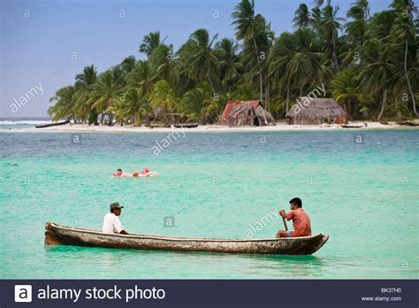 Canoes This In Panama by In Dugout Canoe Near Island Comarca De Kuna