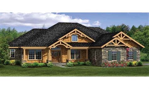 craftsman house plans with walkout basement modern