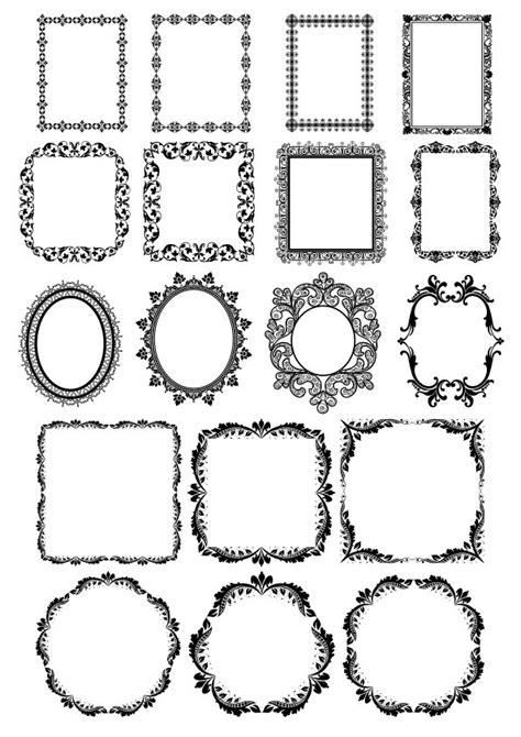 wedding card frame border vectors  vector cdr