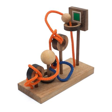 rope puzzle disentanglement wood string puzzle