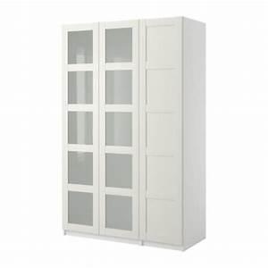 Pax Ikea Türen : pax kleiderschrank mit 3 t ren bergsbo frostglas wei wei 150x38x236 cm ikea ~ Yasmunasinghe.com Haus und Dekorationen