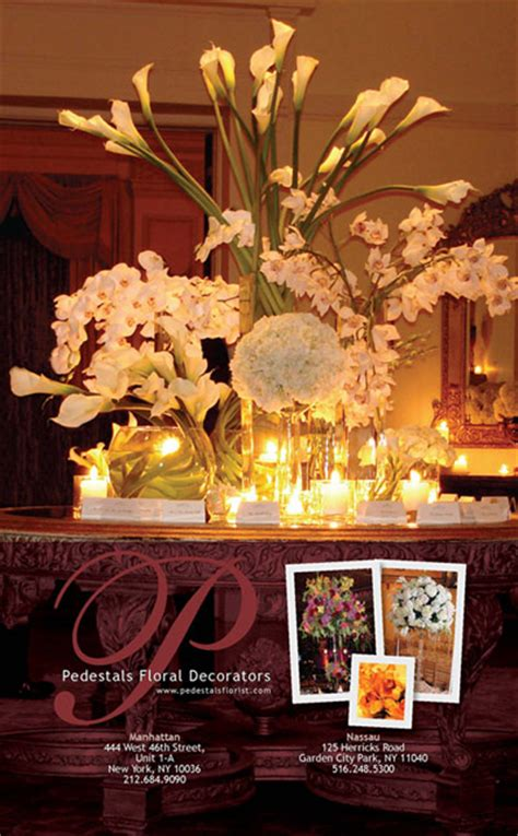 Pedestals Floral Decorators by Pedestals Floral Decorators Bridal Reflections Wedding