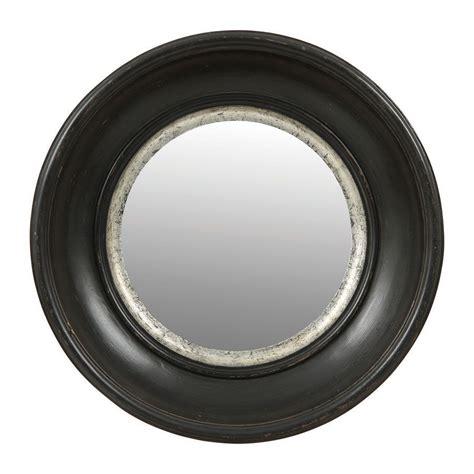 miroir rond noir noir interiors