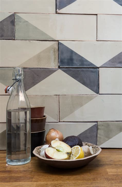 subtle imperfections screen printed ceramic tiles from a