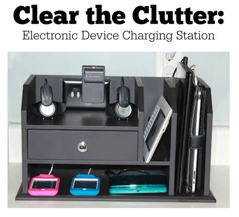 a few simple hacks creates a charging station that solves all your charging and cord needs - Electronic Charging Station