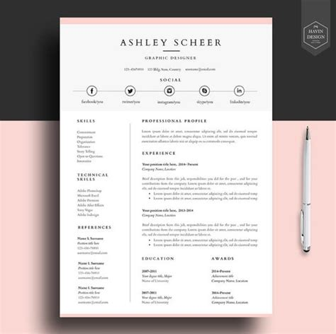 Professional Resume Template Word by Professional Resume Template Resume Template For Word Cv