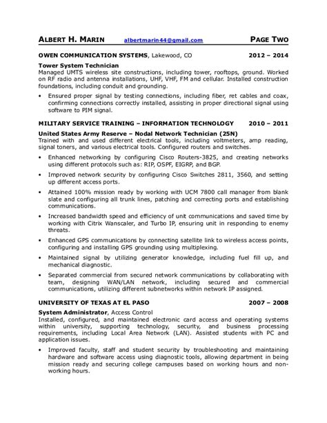 Telecommunication Technician Resumes by Telecommunications Resume