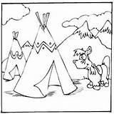 Teepees Coloring Horse Printable Freeprintablecoloringpages History sketch template