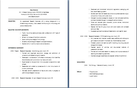 How Do You Write Your Degree On A Resume by Research Associate Resume Free Layout Format