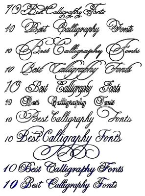 spoodawgmusic wedding calligraphy fonts
